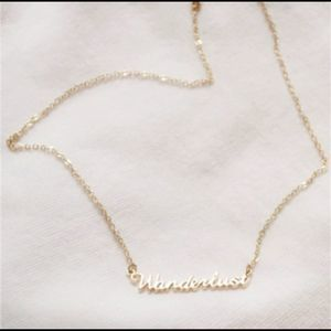 Jewelry - Wanderlust Delicate Gold Tone Necklace